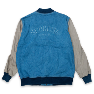 Supreme Denim Twill Varsity Jacket
