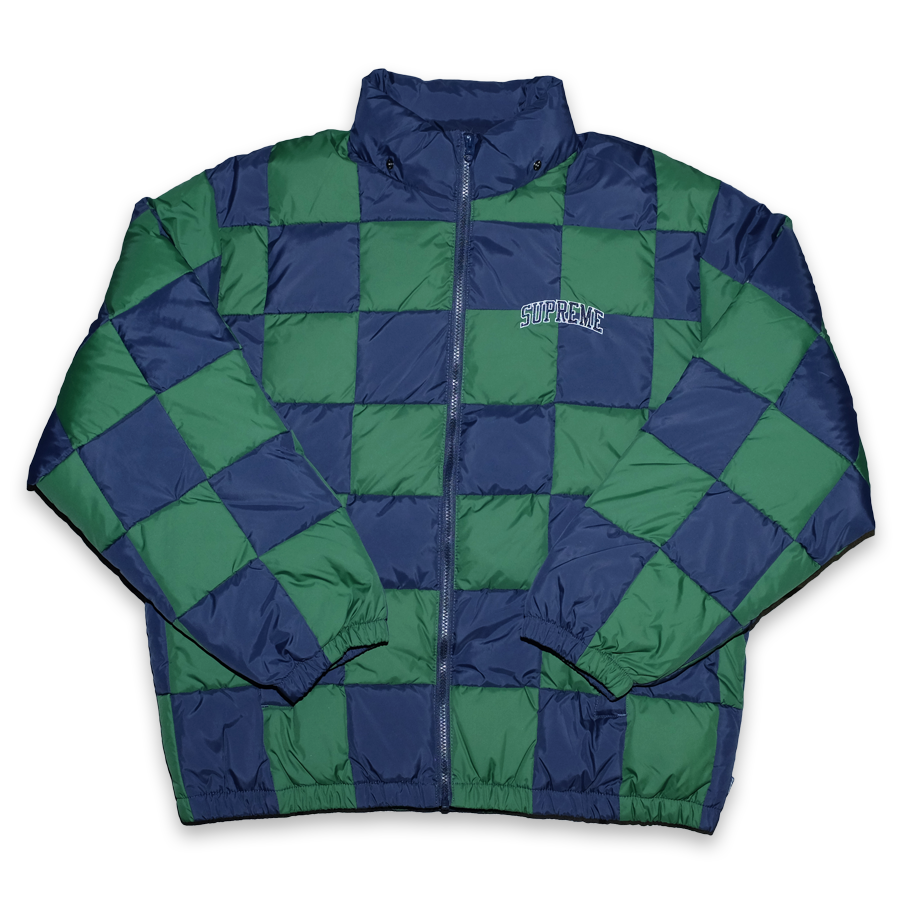 Supreme Checkerboard Puffy Jacket Large