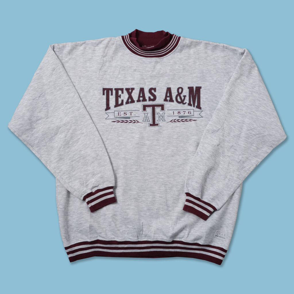 Vintage Texas A&M Mock Neck Sweater XLarge