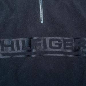 Vintage Tommy Hilfiger Half Zip Fleece Black/Beige