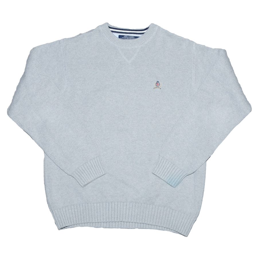 Vintage Tommy Hilfiger Crest Knit Sweater Medium