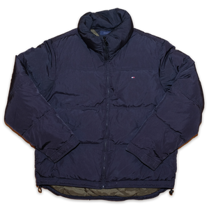 Tommy Hilfiger Puffer Jacket Medium - Double Double Vintage