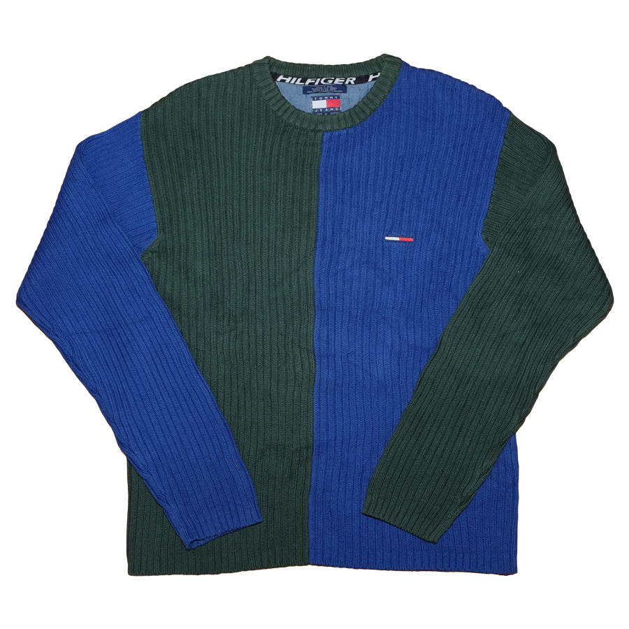 Vintage Tommy Hilfiger Two Tone Sweater XLarge