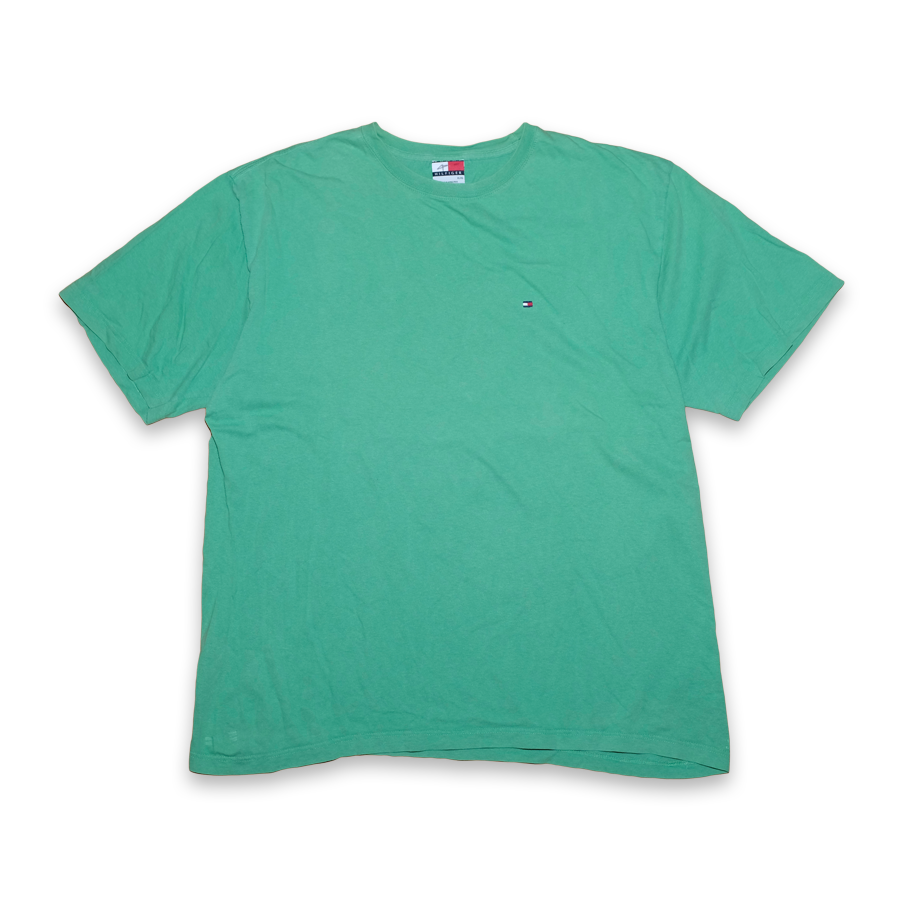 Vintage Tommy Hilfiger Basic Chest Logo T-Shirt Green