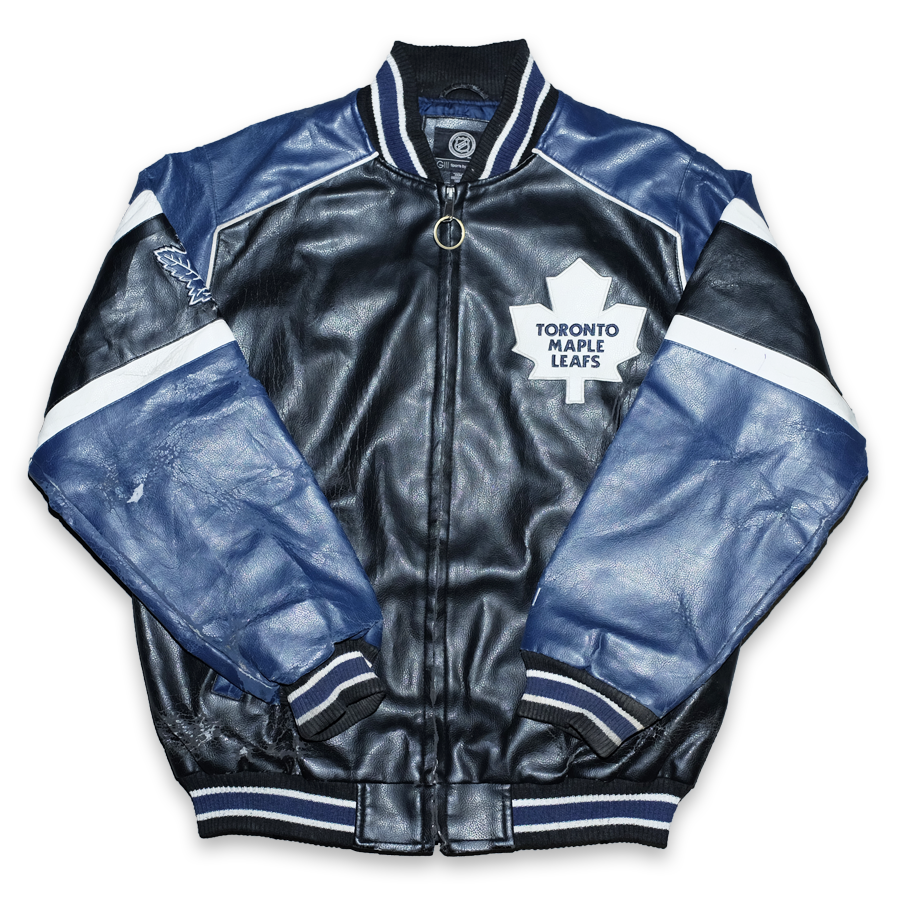 Vintage Toronto Maple Leafs College Jacket Large Double Double Vintage