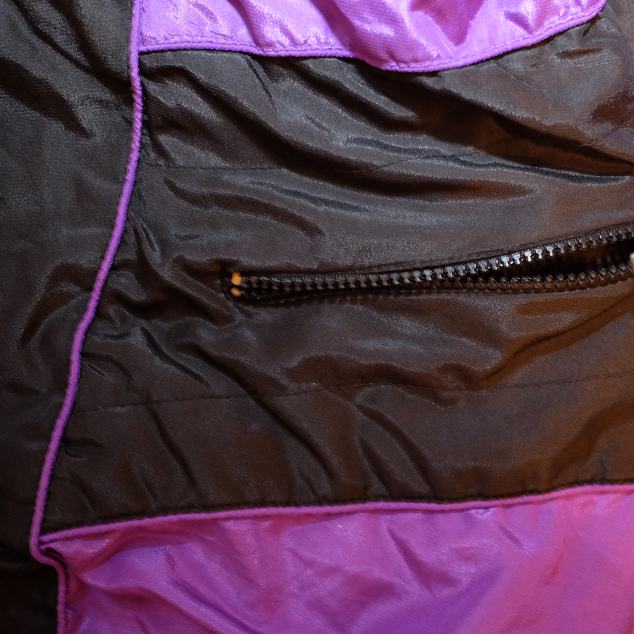 Vintage Color Blocking Trackjacket Purple/Black
