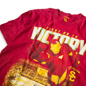 USC Trojans Iron Man Basketball T-Shirt Red