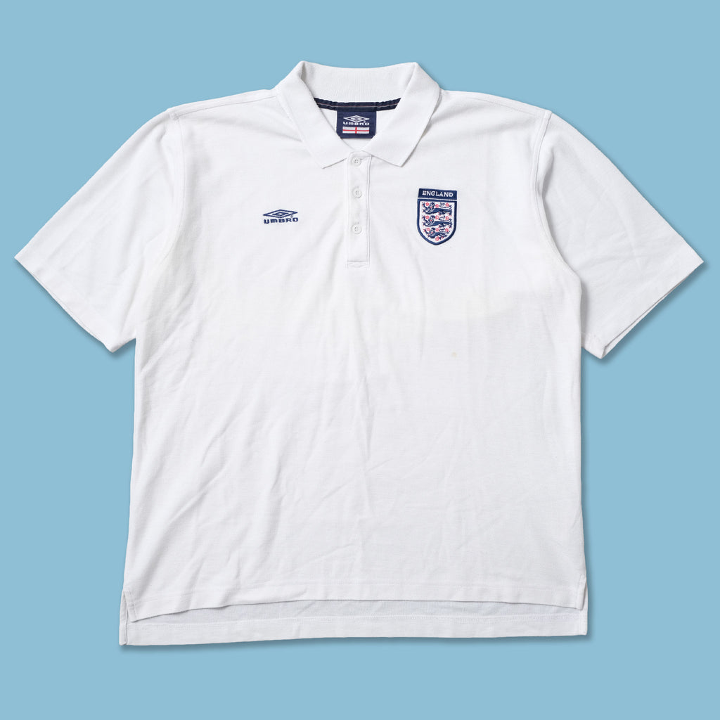 Vintage Umbro England Polo Large
