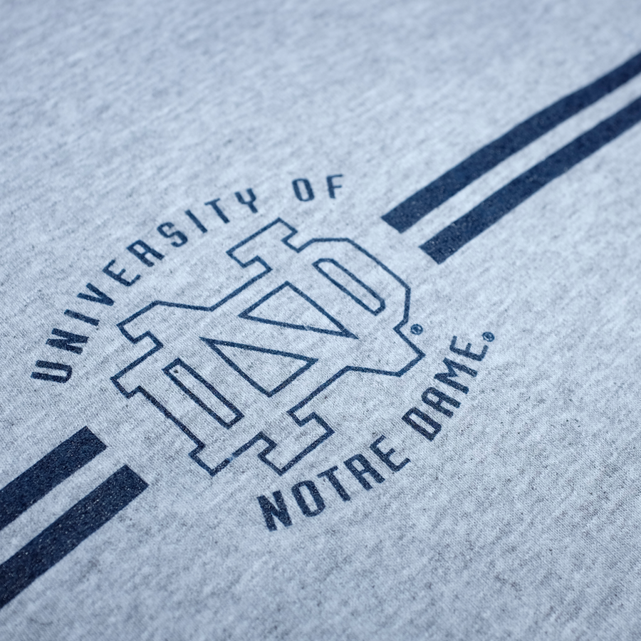 Vintage University of Notre Dame T-Shirt Grey/Navy