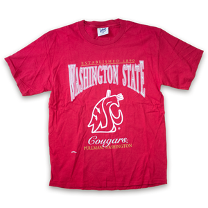Vintage Lee Washington State T-Shirt Red/White
