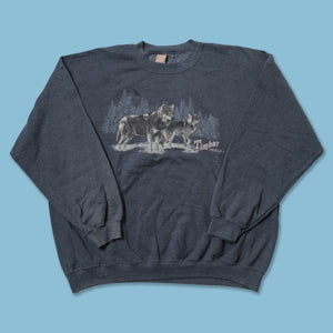 Vintage Timber Wolf Sweater XLarge