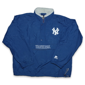 Vintage Starter New York Yankees Q-Zip Windbreaker Large