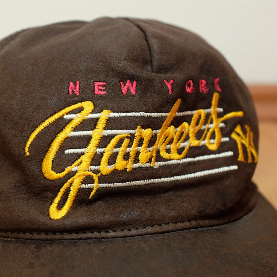 New York Yankees Leather Snapback onesize