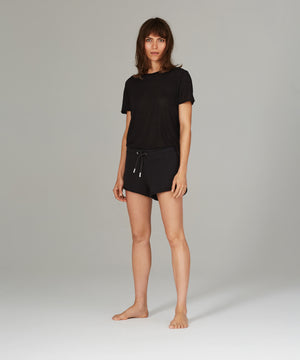 Low Slung Black Sweatshort