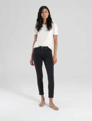 MID RISE SKINNY- stone
