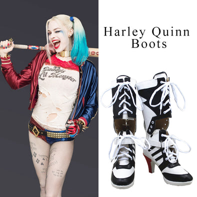 Harley Quinn Cosplay Boots Shoes Joker Costume High Heel Boots - Cosplay Infinity