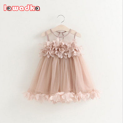 Beautiful Girls Dress Baby Girl Princess Dress Sleeveless Petal Decoration - Cosplay Infinity