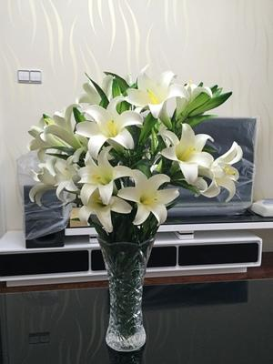 LOT 10  100cm Artificial Lily Flower Display Real Touch for Home Garden Wedding Decoration - Cosplay Infinity