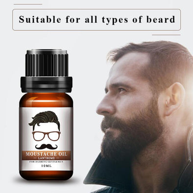 10ml Beard Essential Oil Moustache Styling Moisturizing Smoothing Gentlemen Care - Cosplay Infinity