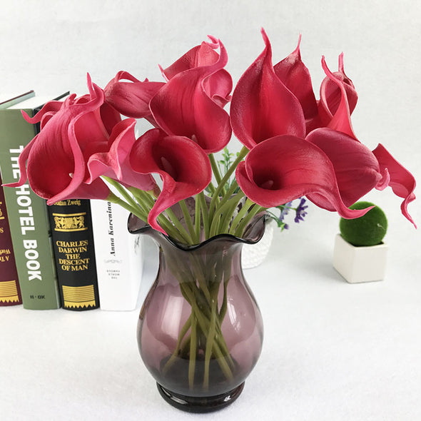 LOT 10 Real Touch Artificial Flowers Wedding Decorative Flowers Calla Lily - Cosplay Infinity