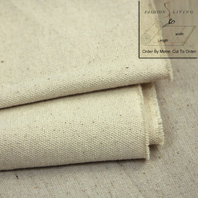 150cm Wide Heavyweight Unprimed Natural White Grey Stone Cotton - Cosplay Infinity