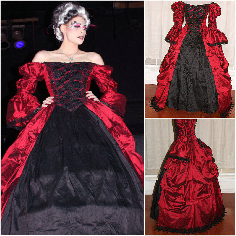 1860s Victorian Corset Gothic/Civil War Southern Belle Ball Gown Dress  CUSTOM MADE
