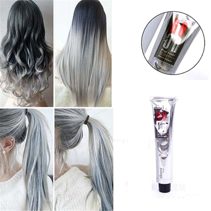 Fashion Light Gray Color Natural Permanent Super Hair Dye Cosplay