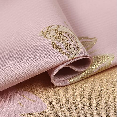 2016 new and unique pink beauty fashion fabrics imported jacquard brocade butterfly gold crisp coat cloth - Cosplay Infinity