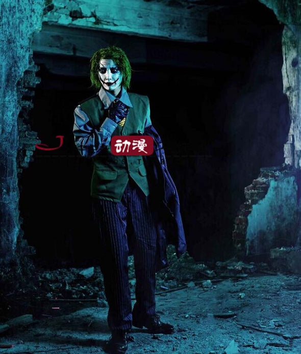 Batman The Dark Knight Joker Costume Custom Made - Cosplay Infinity
