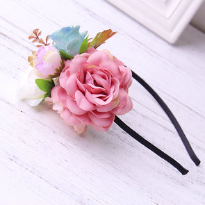 2017 Flower Crown Women Girls Head Wreath Bohemian Bridal Hair band Forehead Headband Headpiece Accessories Wedding Garland - Cosplay Infinity