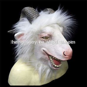 2017 New Top Grade 100% Latex Female Male Goat Head Mask - Cosplay Infinity
