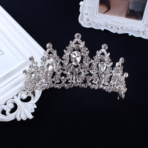 Red White Pageant Wedding Crystal Tiaras And Crowns - Cosplay Infinity