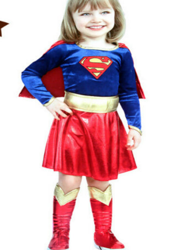 Child Supergirl Super Hero  Cosplay Costume Kids Superman - Cosplay Infinity