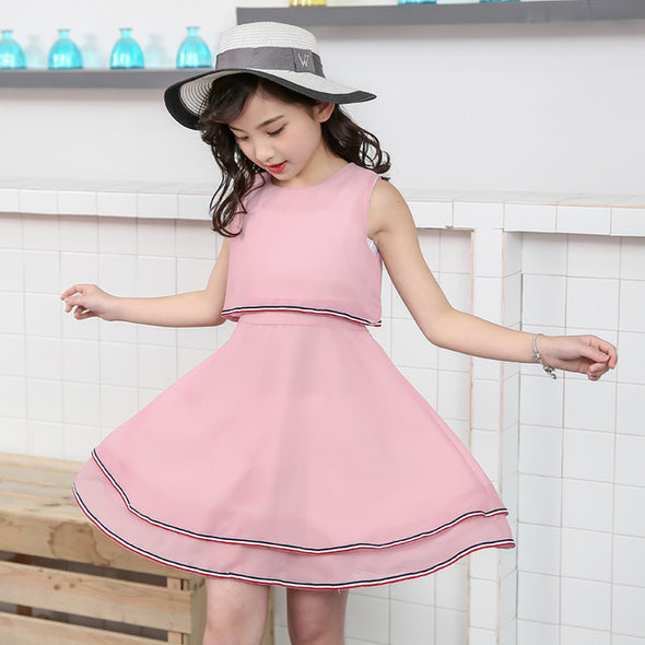 2018 New Summer Costume Girls Princess Dress Children's Evening Clothing Kids Chiffon Lace Dresses Baby Girl Party Dress - Cosplay Infinity