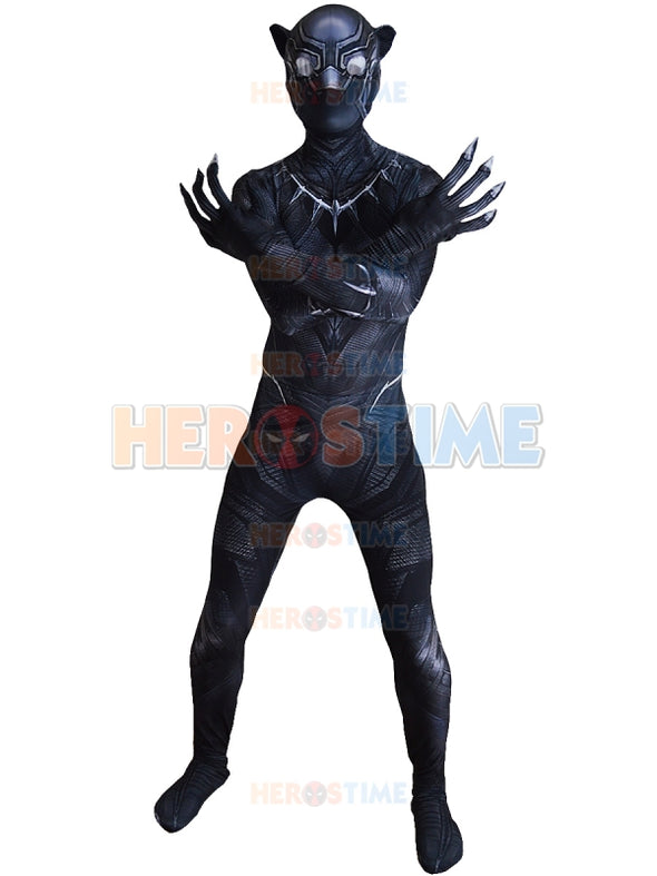 2018 Newest 3D Shade Civil War Black Panther Costume Spandex - Cosplay Infinity