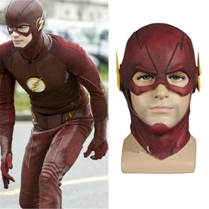 Superhero The Flash Allen Cosplay Helmet Latex Masks Prop - Cosplay Infinity