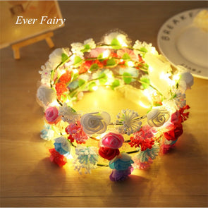 Shiny LED Rose Headdress Flower Crown Festivals Cosplay - Cosplay Infinity