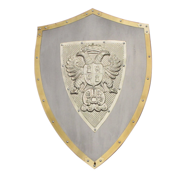 "24"" Medieval Lion Knights Shield Armor with Sword Holder Steel Material - Cosplay Infinity"