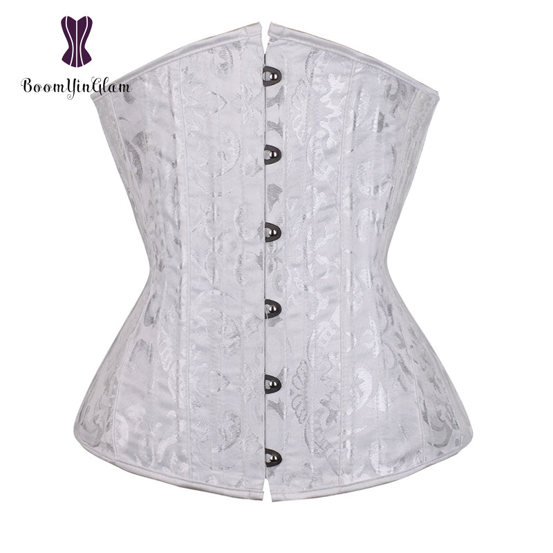9d43c5248a7 Jacquard 26 Spiral Steel Boned Corset Under Bust Bustiers Tight Lacing –  Cosplay Infinity