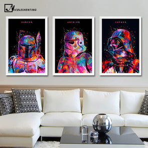 Star Wars 7 Minimalist Art Canvas Poster Painting Darth Vader - Cosplay Infinity