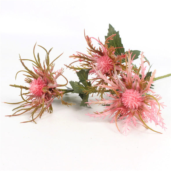 3 Heads artificial glitch plant Simulated sea urchin fake plant new peculiar flower decor for home party office garden decor1pc