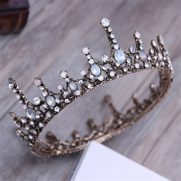 3 Styles Court Retro Baroque Bridal Tiara Queen King Crown - Cosplay Infinity