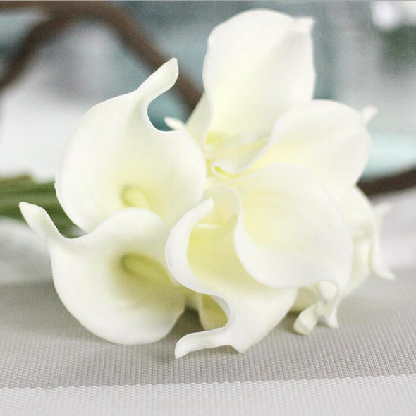 30Pcs/lot Artificial Mini Calla Lily Flower Branches Home Decoration Wedding - Cosplay Infinity