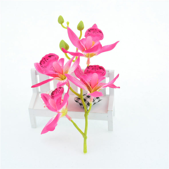 4 Flower Branch Silk Lily Artificial Flower Heads Crafts Decor - Cosplay Infinity