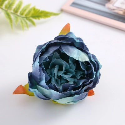 50pcs Artificial Flowers Heads Peony Flower Heads Silk Flowers Decoration Wedding Background Wall Party Fake Floral Wreath Home