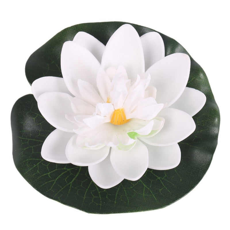 5pcs Real Touch Artificial Lotus Flower Foam Lotus Flowers Water