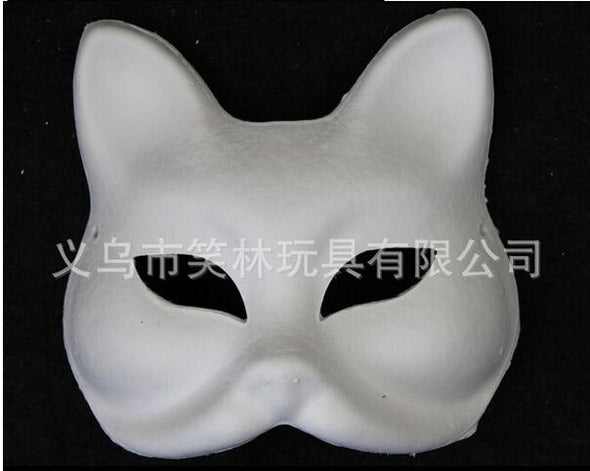 Unpainted Blank Mask Form cat