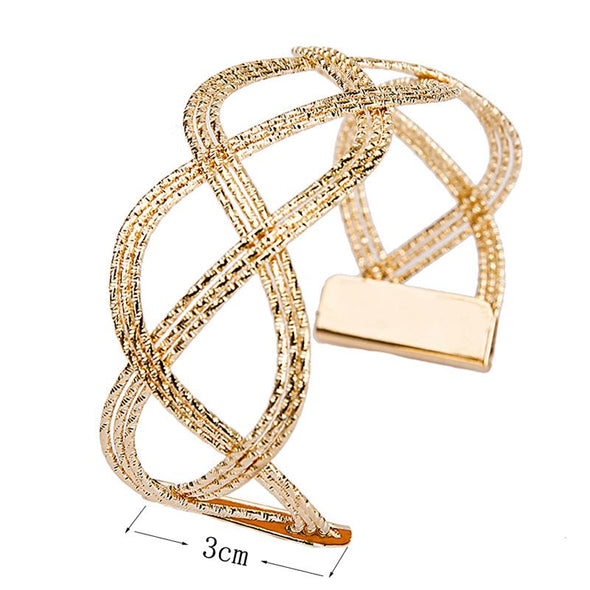 Pop Luxury Fashion Women's Punk Style Gold Color Charm Cuff Bangle Bracelet Women Jewelry Party - Cosplay Infinity