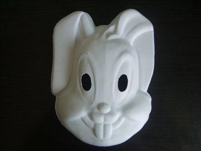 (100 pieces/lot) Blank White Elastic DIY Rabbit Mask Art Project - Cosplay Infinity