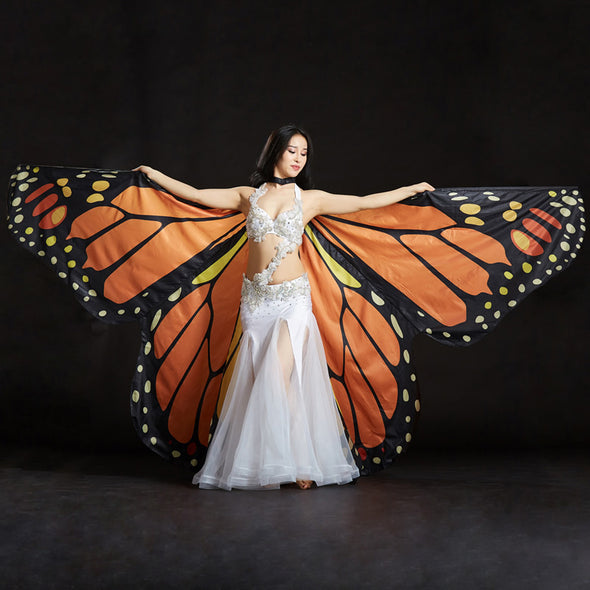 Butterfly Belly Dance Costume 360 Isis Wings Egyptian Dance Wear Women Cape Cloak - Cosplay Infinity